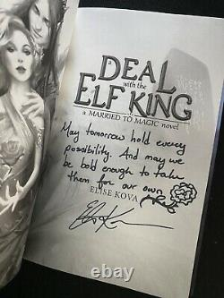 A Deal With the Elf King SIGNED QUOTED DOODLE BRAND NEW UNREAD Elise Kova YA NA