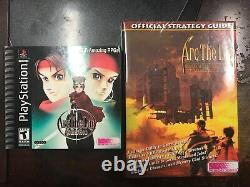 Arc the Lad PSX game and Official Strategy Guide BRAND NEW PS1