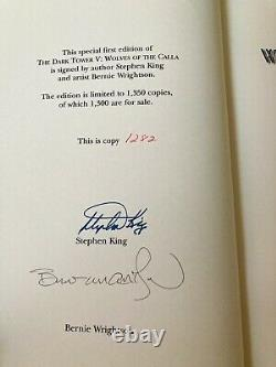 BRAND NEW! Stephen King Wolves of the Calla SIGNED (#1282/1350) $175.00 GRANT
