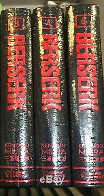 Berserk Hardcover Deluxe Edition Volumes 3-5 BRAND NEW SEALED! English