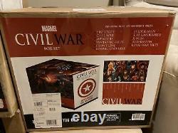 Civil War Box Set Slipcase Hardcover Marvel Brand New Sealed + Cloth Poster HC