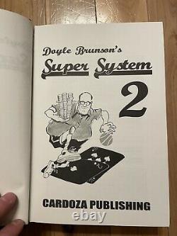Doyle Brunson Super System 1&2 Harcover Books Brand New Pristine Condition Poker