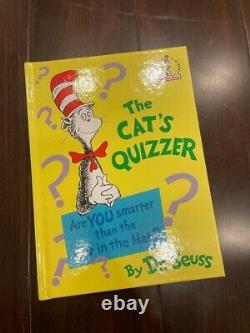 Dr Seuss Cats Quiz Hardcover Brand New Rare Discontinued