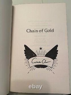 FairyLoot Chain of Gold CoG BRAND NEW STENCILED SPRAYED SIGNED Cassandra Clare