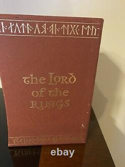 Folio Society Lord of the Rings Trilogy Tolkien in Slipcase Brand New FREE SHIP