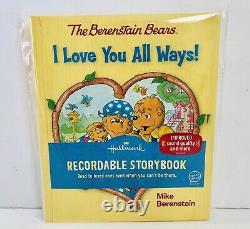 Hallmark Recordable Book Berenstain Bears I Love You All Ways BRAND NEW
