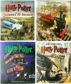 Harry Potter The Illustrated Edition SET OF 4 BRAND NEW HARDBACK BOOKS