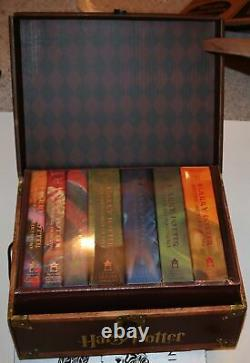 Harry Potter books volume 1 TO 7 hardcover set in trunk chest BRAND NEW SEALED