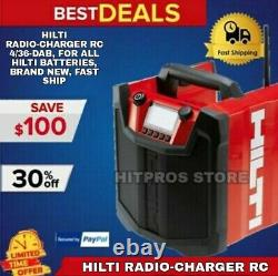 Hilti Radio-charger Rc 4/36-dab, For All Hilti Batteries, Brand New, Fast Ship