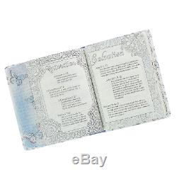 KJV My Promise Journaling Bible in Silky Butterfly Color Blue & White Brand New