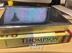 KJV Thompson Chain-Reference Bible Black Bonded Leather Large Print BRAND NEW