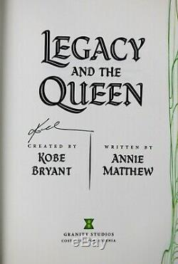 Kobe Bryant Signed Legacy And The Queen Hard Cover (brand New)