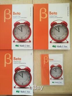 Math-u-see beta, brand new, DVD, Instruction manual, Test book, Student workbook