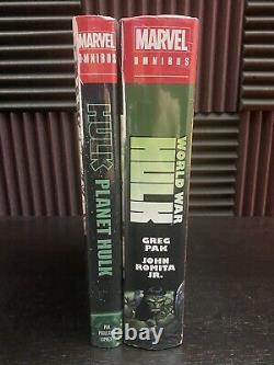 Planet Hulk & World War Hulk Omnibus Lot Marvel Hardcover BRAND NEW SEALED OOP