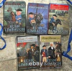 RUSH REVERE 5 HARDBACK BOOK COMPLETE SERIES by RUSH LIMBAUGH BRAND NEW