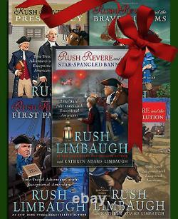 RUSH REVERE 5 VOLUME COMPLETE SET HARDCOVER BOOKS Rush Limbaugh BRAND NEW