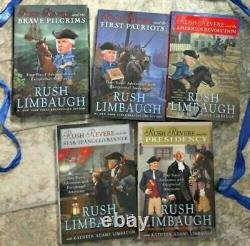 RUSH REVERE 5 VOLUME HARDCOVER BOOK SET by Rush Limbaugh BRAND NEW