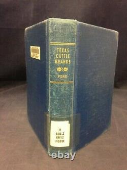 Texas Cattle Brands Catalog of TX Centennial Gus L. Ford (Vtg 1936) A HB 210421