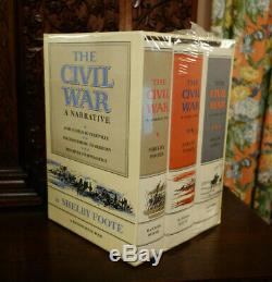 The Civil War A Narrative by Shelby Foote 3 Vol. Box set brand new never opened