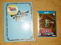 The Legend of Zelda Wind Waker HD Hardcover Guide + Game (BRAND NEW SEALED)
