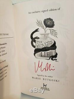 The Midnight Lie by Marie Rutkoski, Fairyloot Special Edition, Signed, Brand new