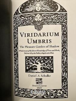 Viridarium Umbris, Daniel Schulke Andrew Chumbley 2005 162/576 BRAND NEW