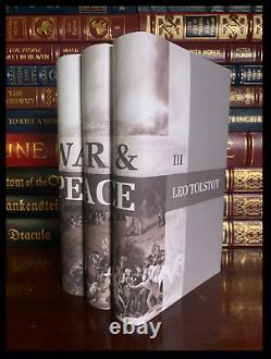 War & Peace by Leo Tolstoy 3 Volume Custom Gift Set Brand New Hardbacks + Ribbon
