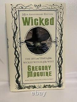 Wicked Book 25th Anniversary Edition Signed Edition Gregory Maguire Brand New